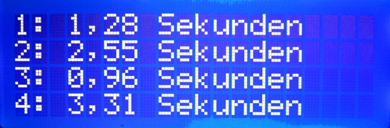 Rundenzeiten - Anzeige auf dem LCD