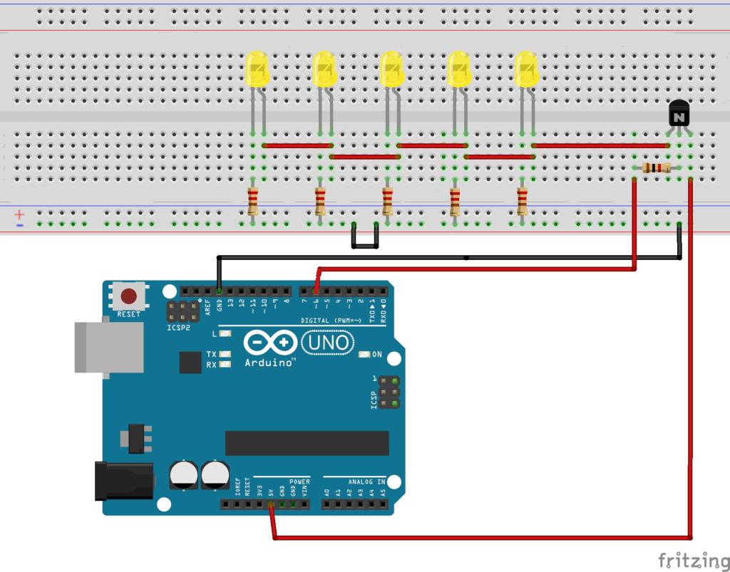 LEDs mit Transistor schalten