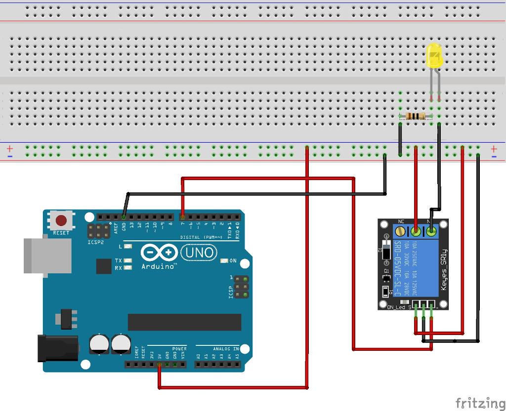 LED mit einem Relais schalten