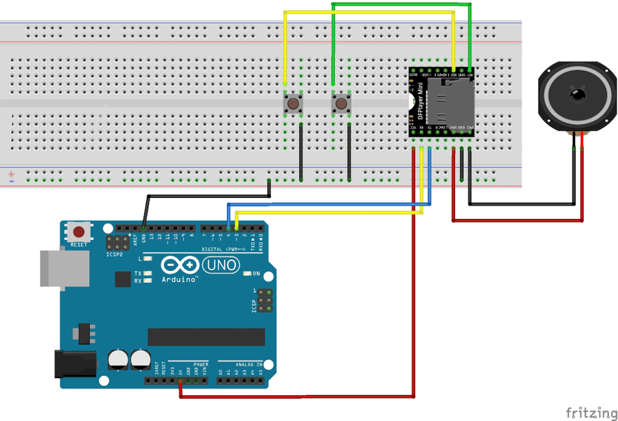 mp3-Player mit dem DFPlayer Mini