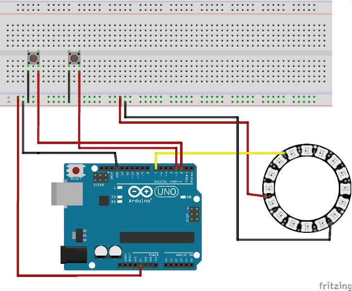 Interrupt: Farbenspiel mit einem NeoPixel-Ring