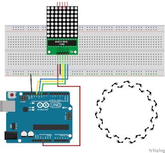 LED-Matrix - Lauflicht