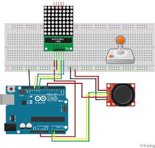 LED-Matrix - Joystick-Spiel